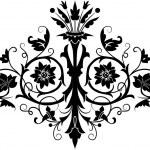 Element for design, flower — Stock Vector