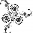 Element for design, corner flower, vector - Stockvectorbeeld
