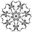 Element for design, corner flower, vector — Stock Vector