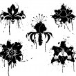 Grunge paint flower, element for design, vector - Stockvectorbeeld