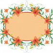 Stock Vector: Floral frame with lily, vector