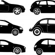 Silhouette cars, vector — Stock Vector