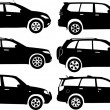 Silhouette cars, vector — Stock Vector #7078587