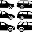 Silhouette cars, vector — Stock Vector #7078590
