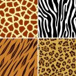 Seamless animal print - Stock Vector
