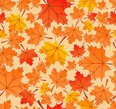 Autumn leaves seamless pattern, vector — Stock Vector