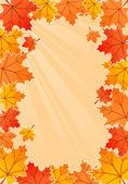 Quadro de outono — Vetor de Stock