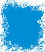 雪花 grunge 框架,为设计、 元素矢量 — 图库矢量图片