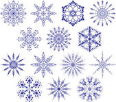 Collection of snowflakes, vector — Stock Vector