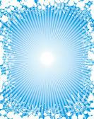 Snowflake grunge frame, elements for design, vector — ストックベクタ