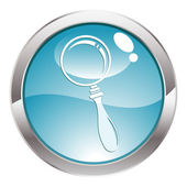 Gloss Button with magnifier — Stock Vector