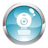ウェブ ・ カムと光沢ボタン — ストックベクタ