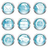 Set Business Gloss Button — Stock Vector
