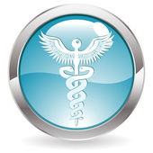 Gloss Button with Medical sign — Stock vektor