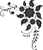 Element for design, corner flower — Stock Vector