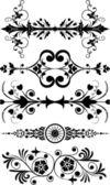 デザイン、角の花、ベクトルの要素 — ストックベクタ