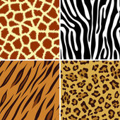 Seamless animal print — Stock Vector