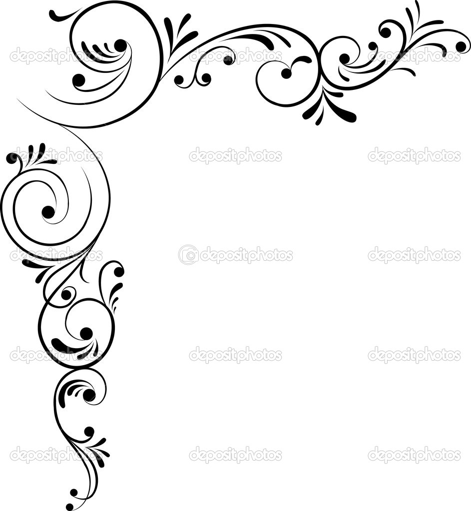 Displaying 20> Images For - Vintage Filigree Corner Border... Vintage Border Vector