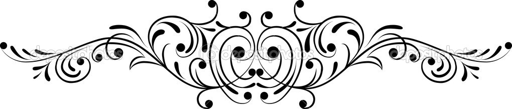 Flower Vector Black And White Corner Corner Flower Vector