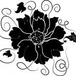 Element for design, flower, illustration — Stock Vector
