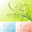 Floral background, vector — Stock Vector