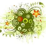 Abstract floral chaos — Stock Vector