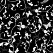 Abstract floral pattern, vector - Stock Vector