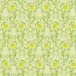 Floral seamless pattern, vector — Stock Vector