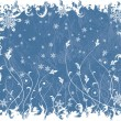 Christmas frosty background, vector — Stock Vector