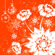 Floral background with snowflake — Imagens vectoriais em stock