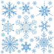 Snowflakes collection — Vector de stock