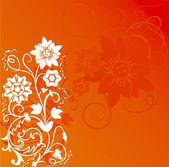 Fiore di sfondo, gli elementi per la progettazione — Vettoriale Stock