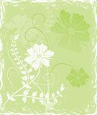 Grunge 背景花卉,为设计元素 — 图库矢量图片