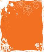 Granica kwiat tło, elementy projektowania — Wektor stockowy