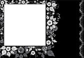 Framed background flower, elements for design — Stock Vector