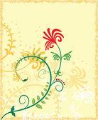 Ilustracja kwiat tło, elementy projektowania, wektor — Wektor stockowy