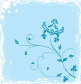 Grunge sfondo fiore, elementi di design, vettoriale — Vettoriale Stock