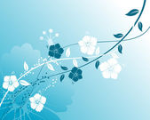 抽象花卉背景 — 图库矢量图片