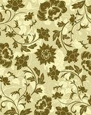 αφηρημένο floral σχέδιο — 图库矢量图片