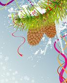 抽象的なクリスマス背景 — ストックベクタ