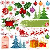 Christmas set — Stockvektor
