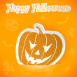 Halloween sticker — Image vectorielle