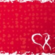 Royalty-Free Stock Vectorafbeeldingen: Valentines grunge frame with hearts, vector