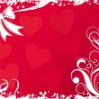 Valentines background with hearts, vector - Vettoriali Stock