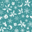 Christmas seamless background - Stok Vektr