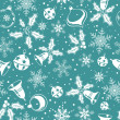 Christmas seamless background - Imagen vectorial