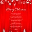 Christmas greeting card - Stok Vektr