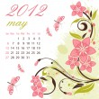 Royalty-Free Stock Vector Image: Calendar for 2012 May