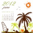 Calendar for 2012 June — Image vectorielle