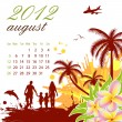 Stock Vector: Calendar for 2012 August